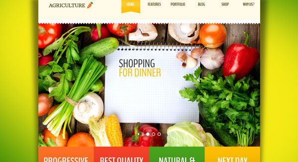 agriculture-theme-wordpress-creer-site-internet-agriculture ... - Creer Un Site De Cuisine