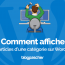 Comment Afficher Articles Categorie Wordpress