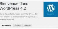 Bienvenue Sur Wordpress 4 2