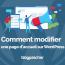 Comment Modifier Page Accueil Wordpress Blogpascher 2