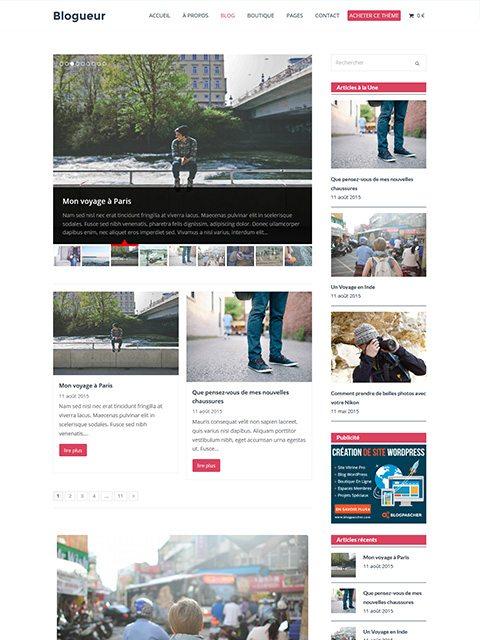 Blogueur : Le Meilleur Thème WordPress Pour Créer Un Blog (Recommandé)
