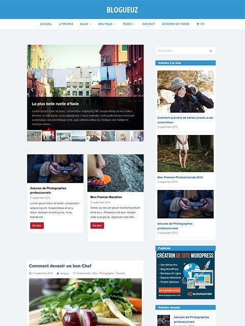 Blogueuz : Un (autre) Thème Pour Créer Un Blog WordPress Pro
