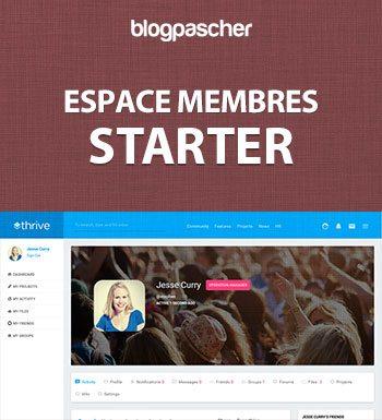 Création Espace Membres – Starter