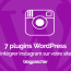 Plugins Wordpress Integrer Instagram Blog Site Web 1