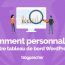Comment Personnaliser Tableau De Bord Wordpress Blogpascher