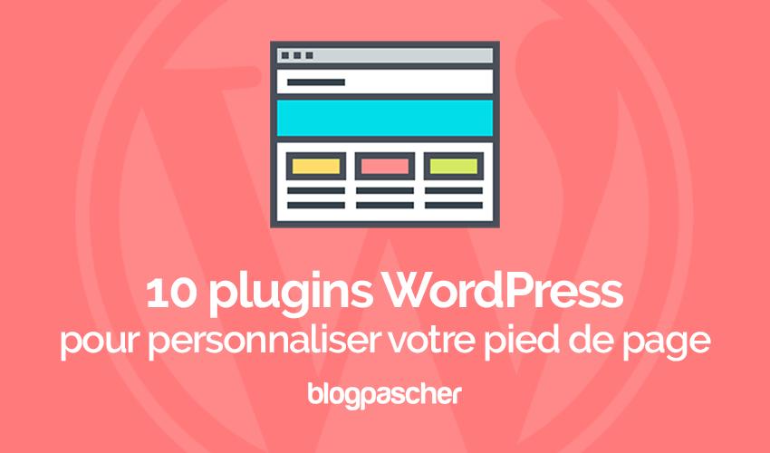 10 plugins de WordPress para personalizar el pie de página | BlogPasCher