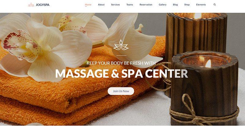 10 th mes wordpress pour cr er un site web de spa ou salon de massage blogpascher. Black Bedroom Furniture Sets. Home Design Ideas