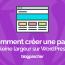 Comment Céer Uen Page Pleine Largeur Sur Wordpress