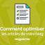 Comment Optimiser Les Articles De Votre Blog