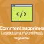 Как удалить боковую панель в Wordpress