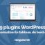 Wordpress 플러그인은 대시 보드 웹 사이트를 사용자 정의합니다.